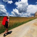Der Pilgerweg nach Rom - Fußpilger auf der Via Francigena