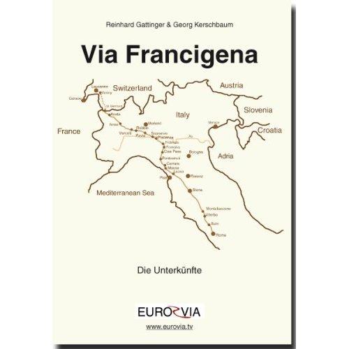 6. Auflage Pilgerunterkunftsheft  – Führer – Via Francigena