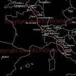 Übersicht Gesamtverlauf Pilgerweg Via Farncigena
